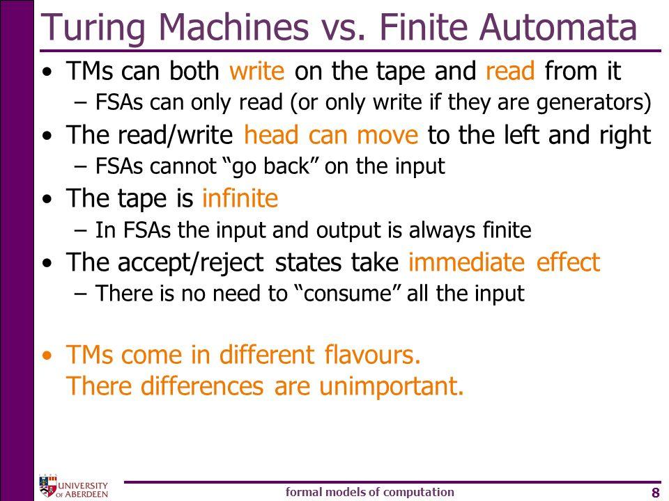 Turing Machines vs. Finite Automata