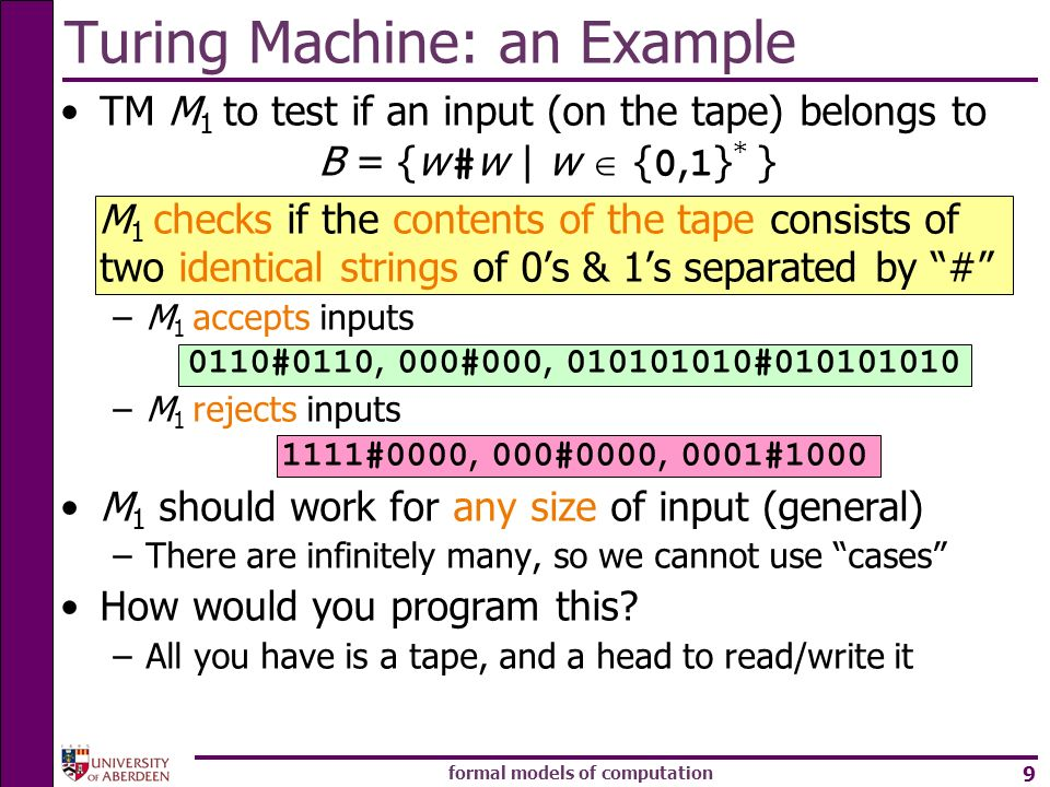 Turing Machine: an Example