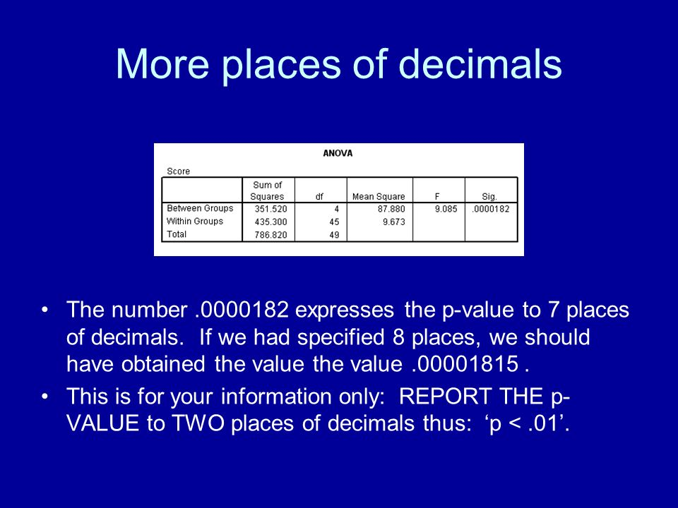 More places of decimals