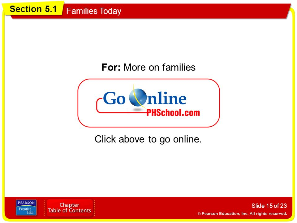 For: More on families Click above to go online.