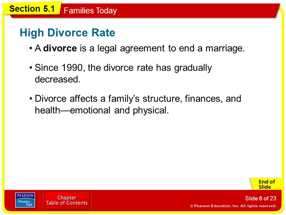 High Divorce Rate A divorce is a legal agreement to end a marriage.