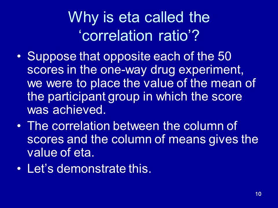 Why is eta called the 'correlation ratio'