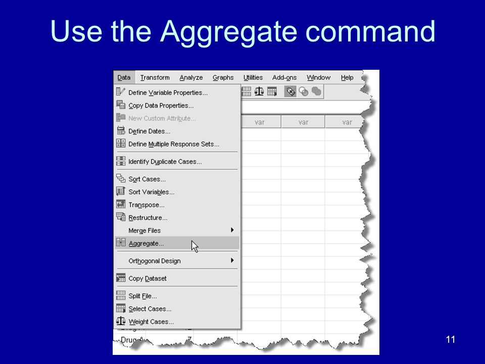 Use the Aggregate command