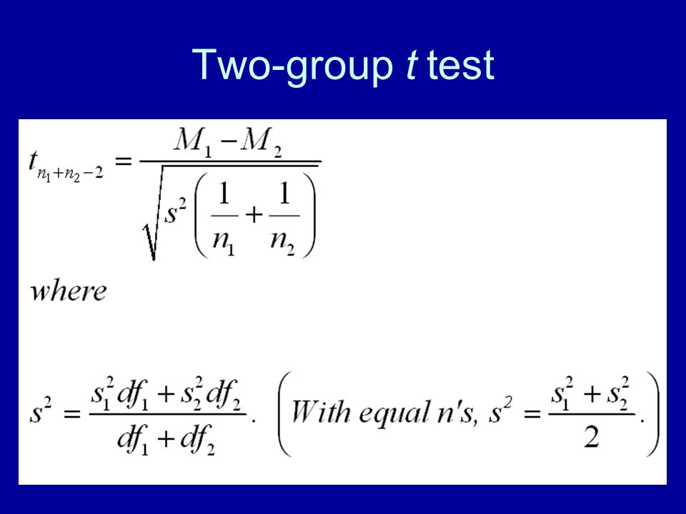 Two-group t test