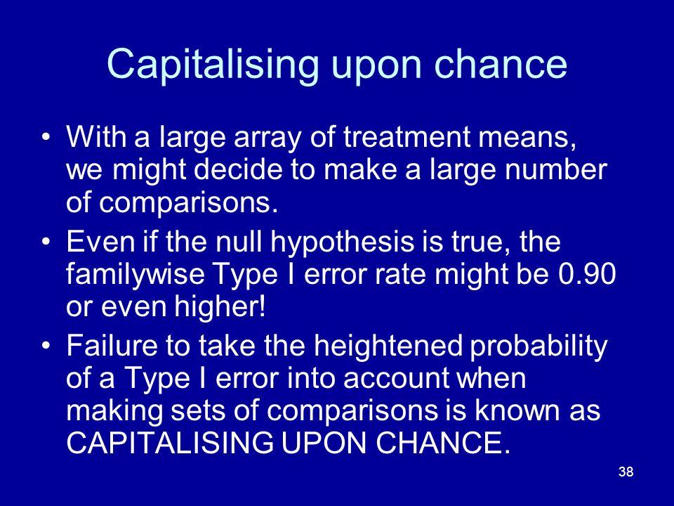 Capitalising upon chance
