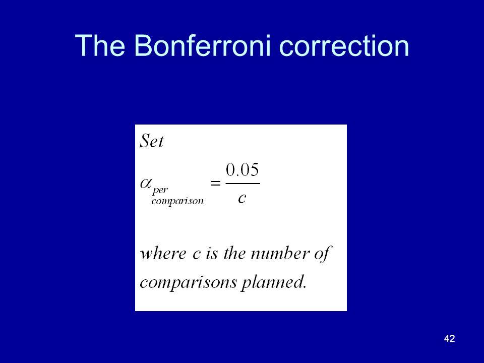 The Bonferroni correction