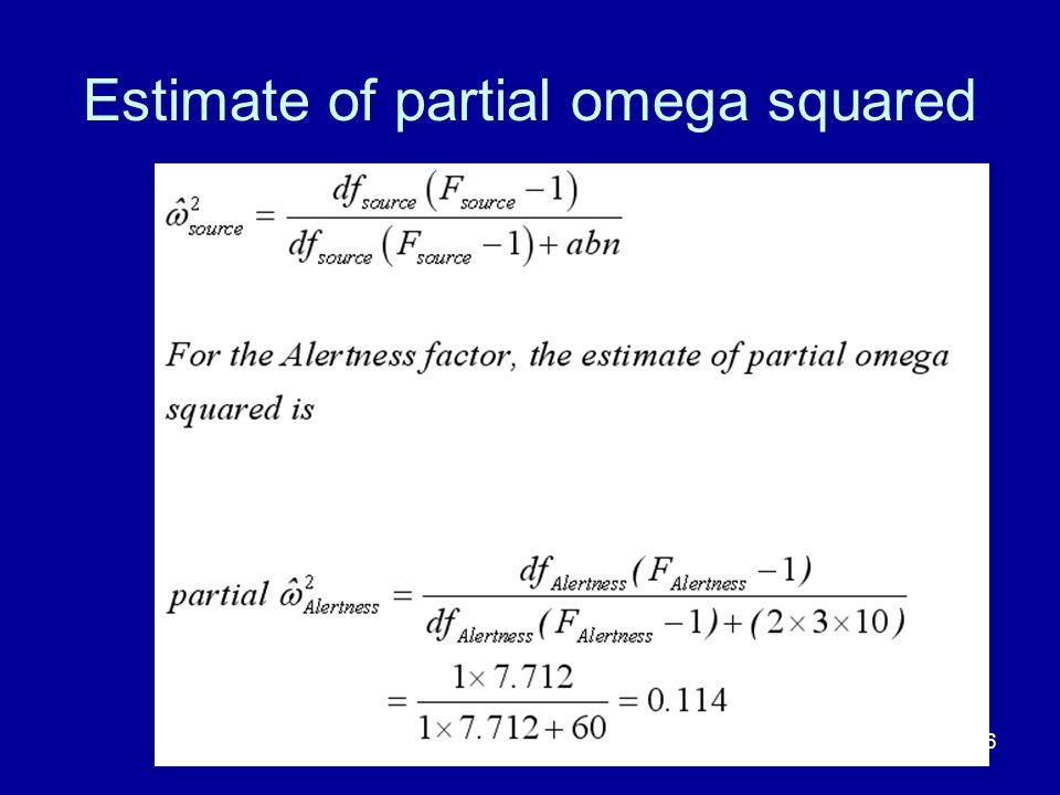 Estimate of partial omega squared