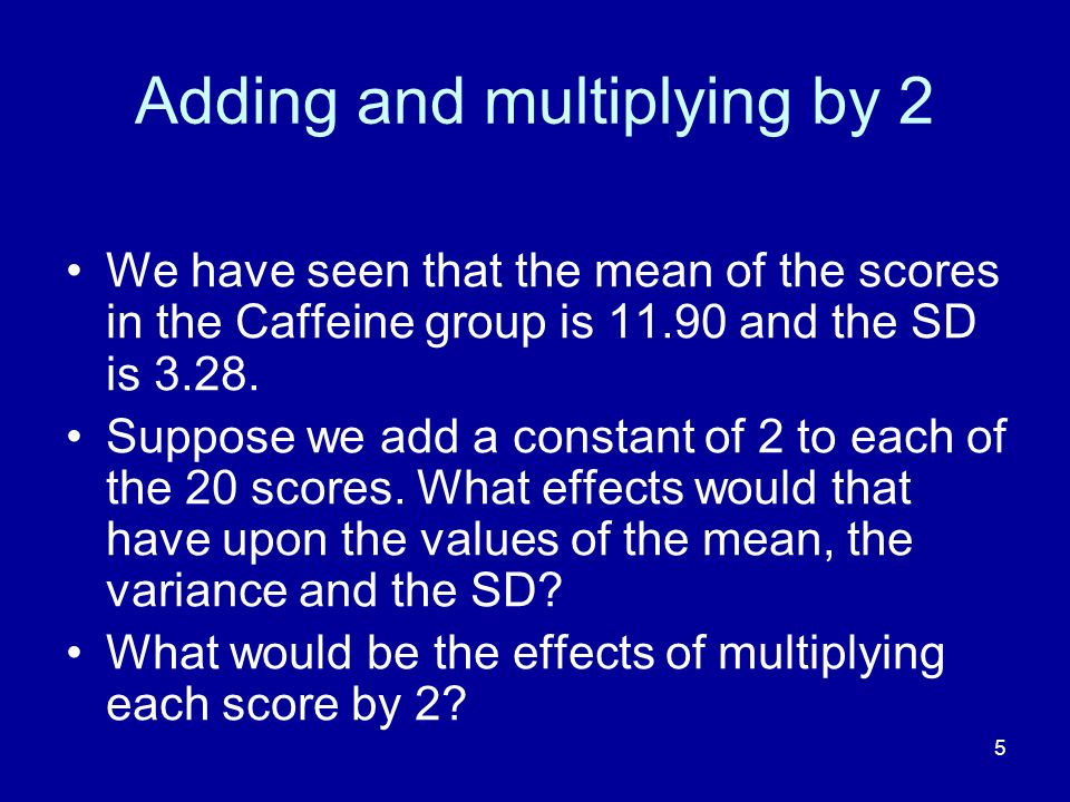 Adding and multiplying by 2