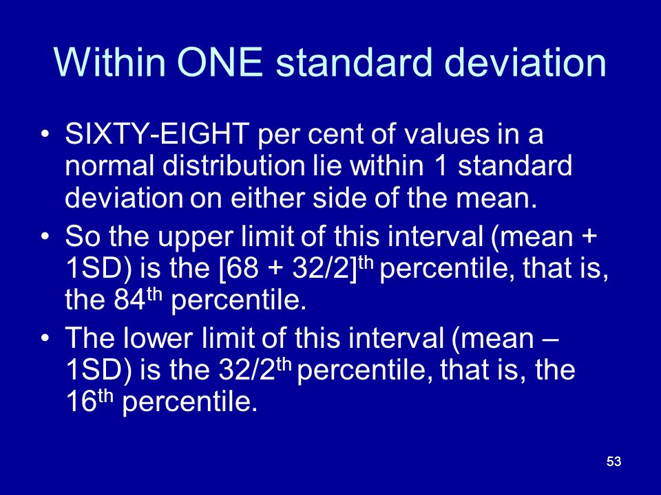 Within ONE standard deviation