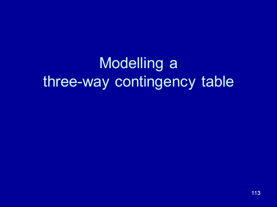 Modelling a three-way contingency table