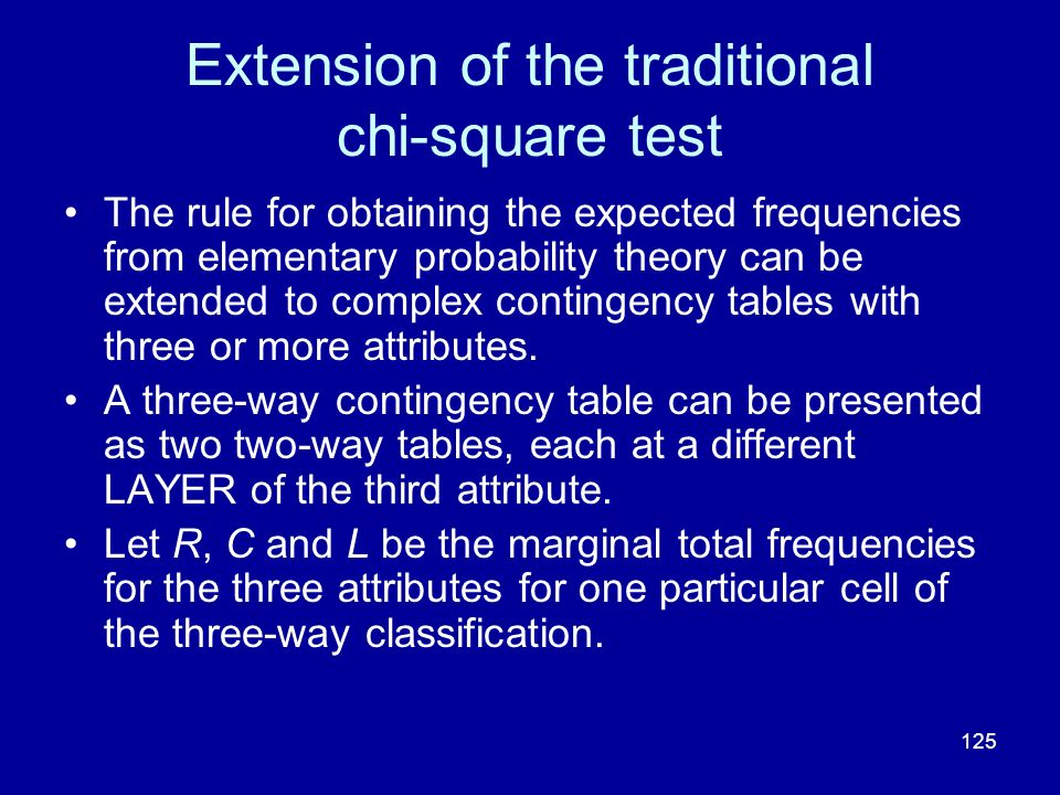 Extension of the traditional chi-square test