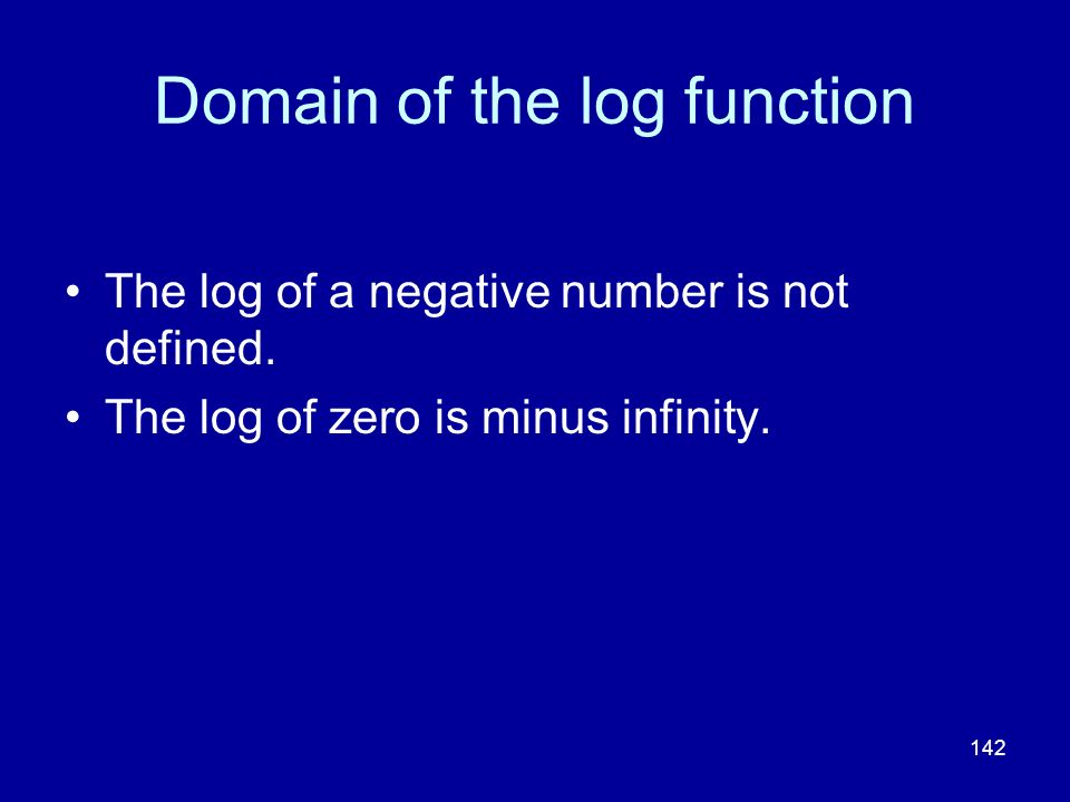 Domain of the log function