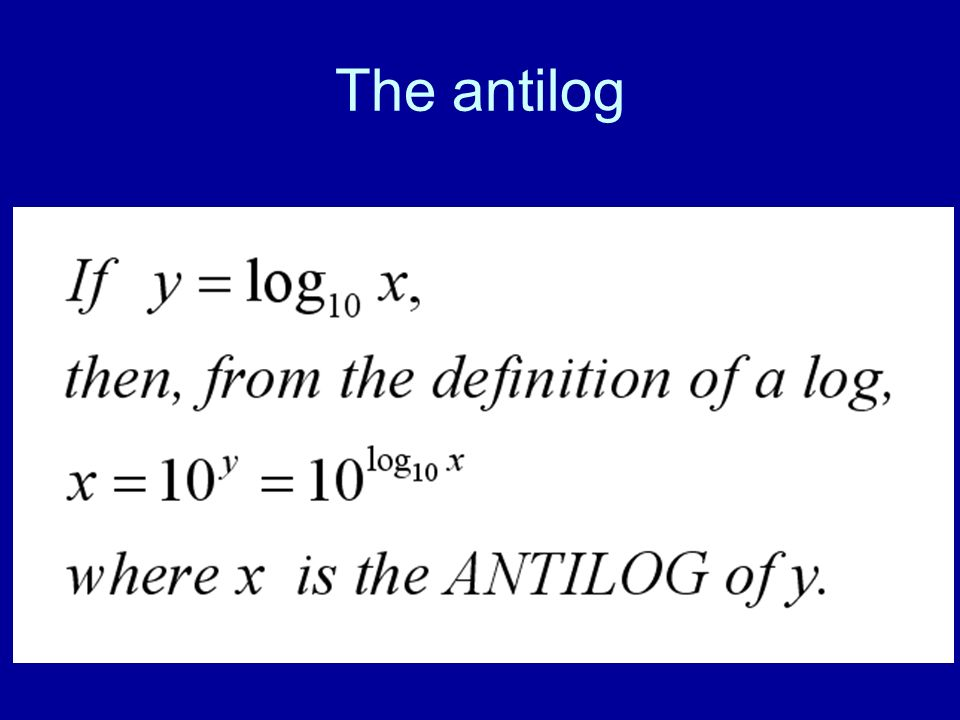 The antilog