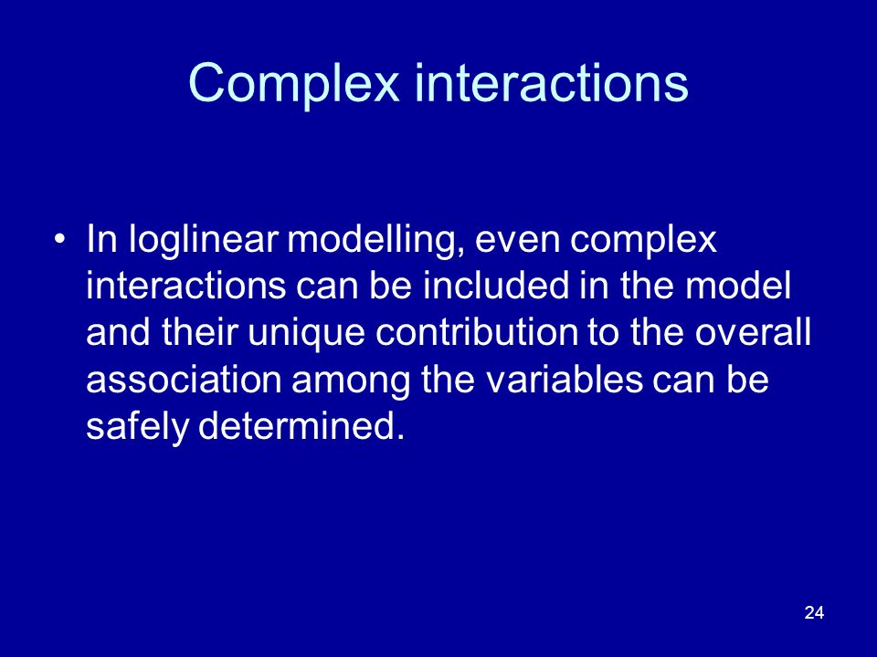 Complex interactions