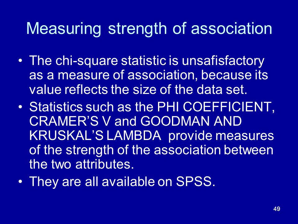 Measuring strength of association