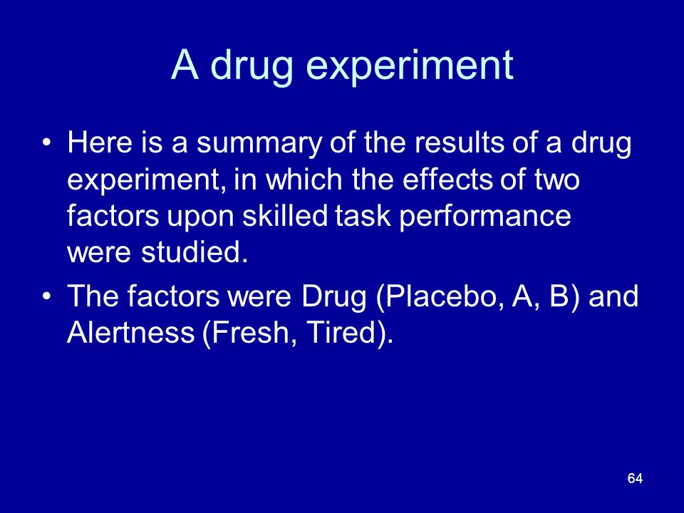 A drug experiment
