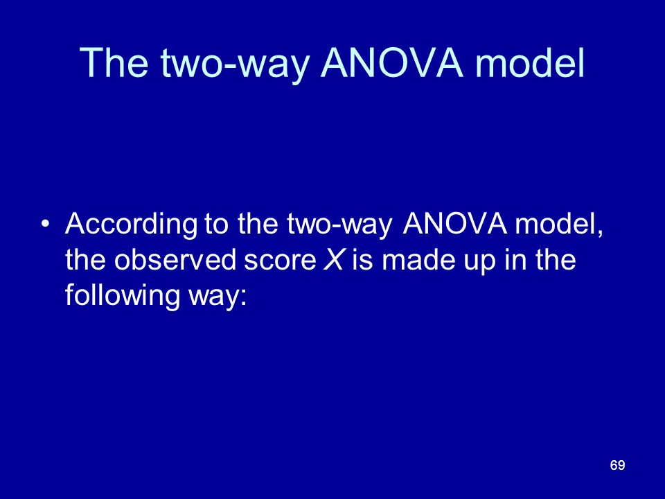 The two-way ANOVA model