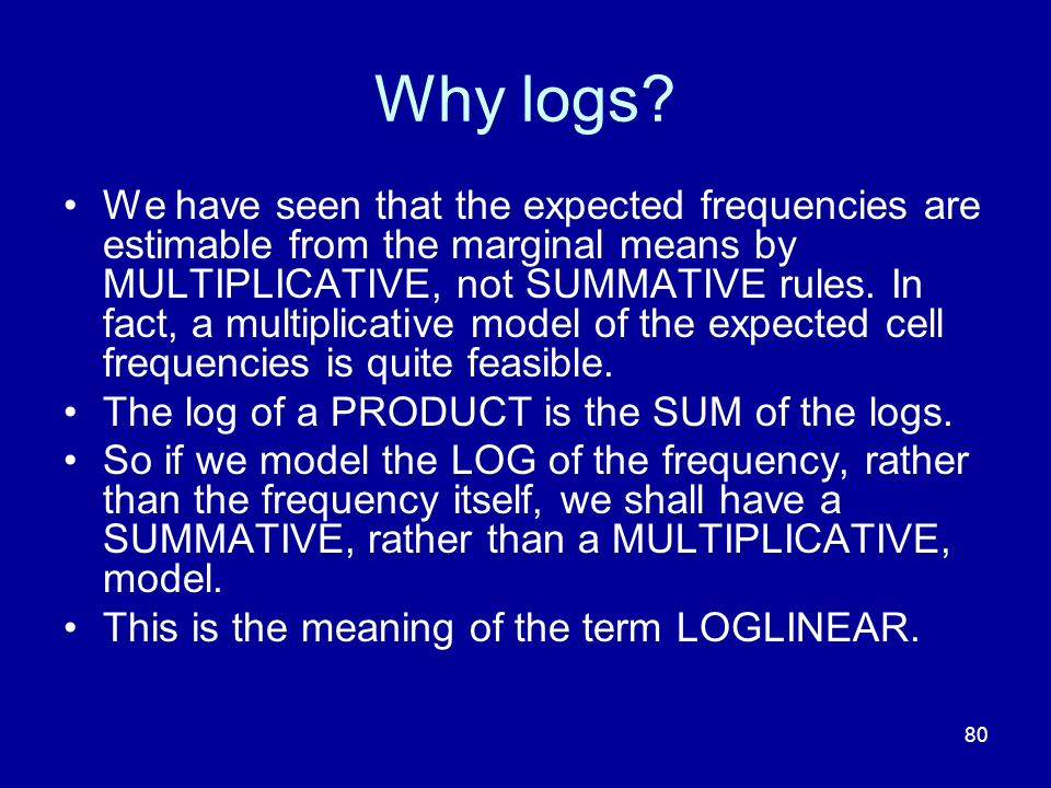 Why logs