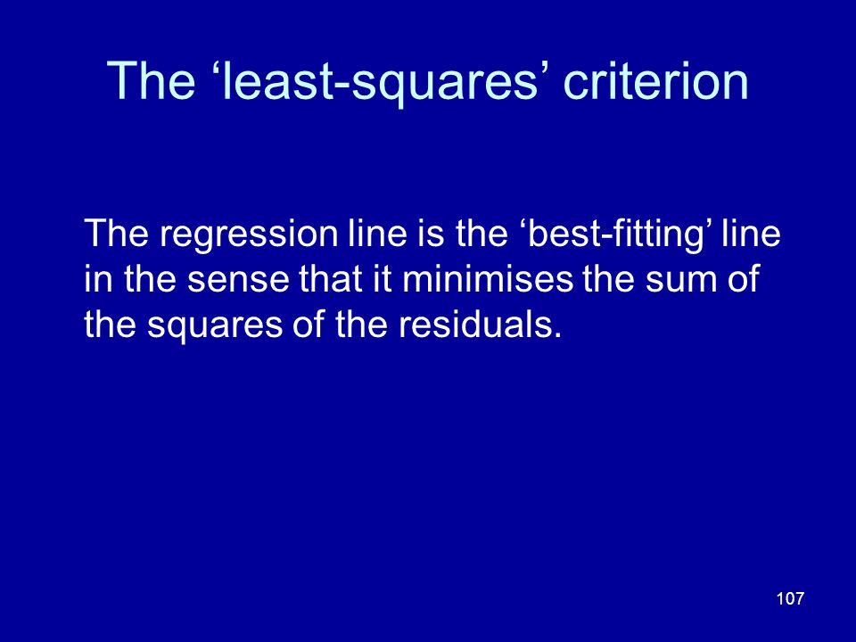 The 'least-squares' criterion
