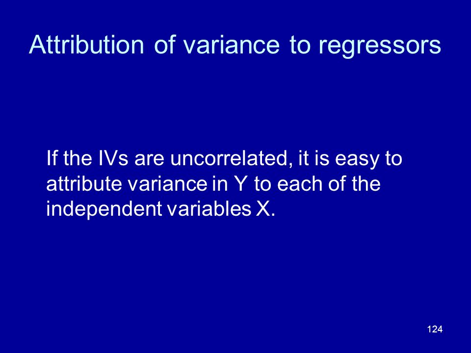 Attribution of variance to regressors