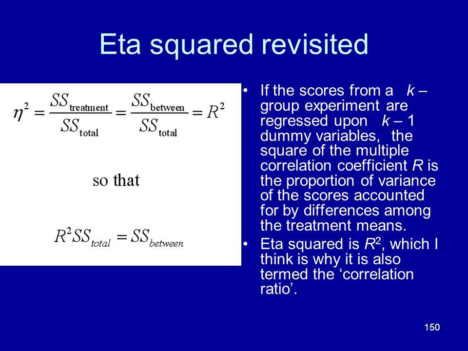 Eta squared revisited