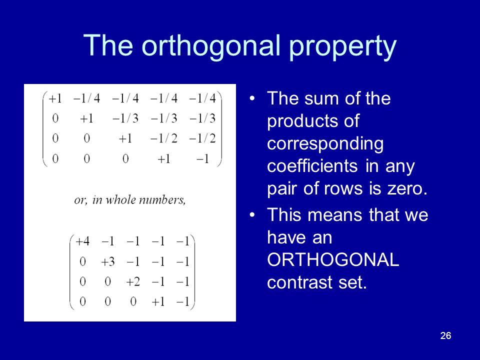 The orthogonal property