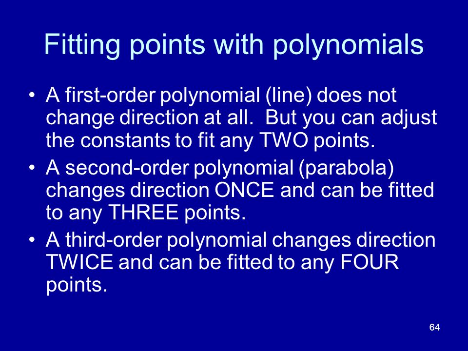 Fitting points with polynomials