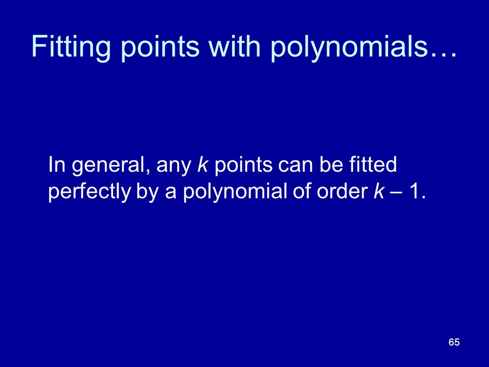 Fitting points with polynomials…