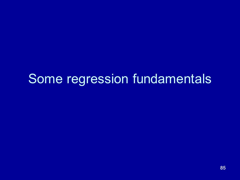 Some regression fundamentals