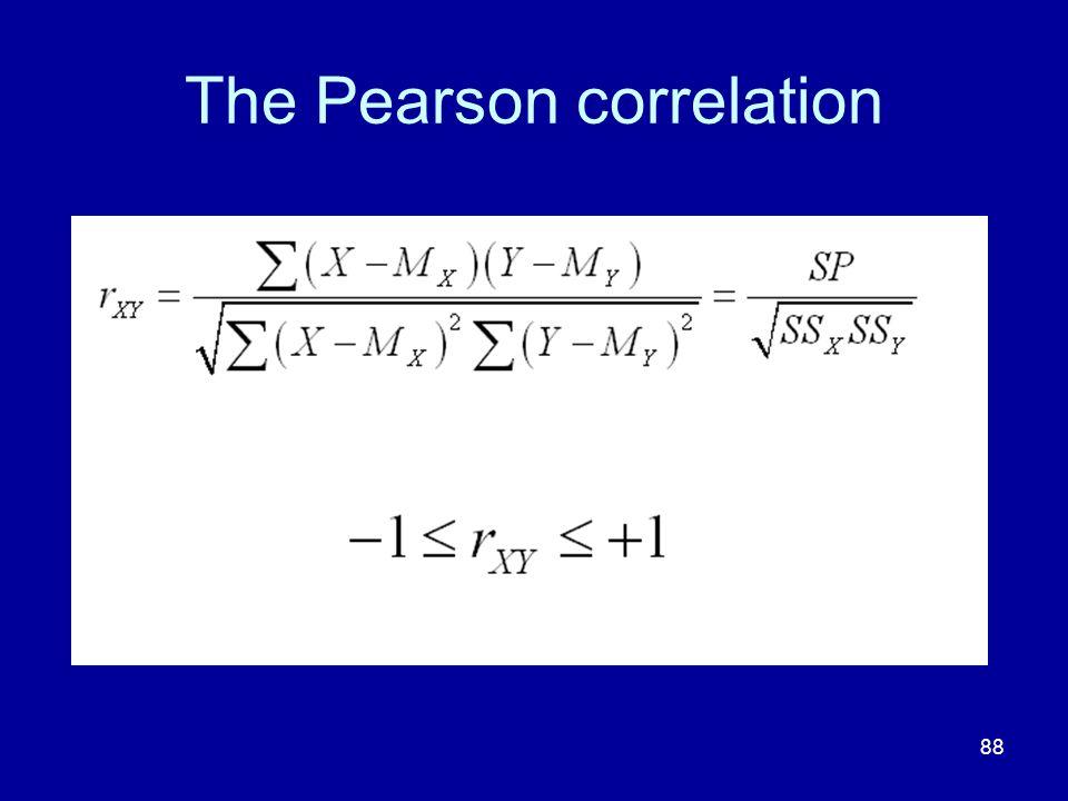 The Pearson correlation