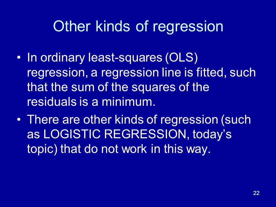 Other kinds of regression