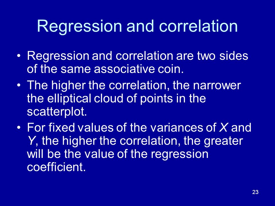 Regression and correlation