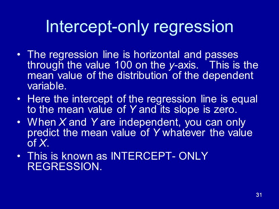 Intercept-only regression