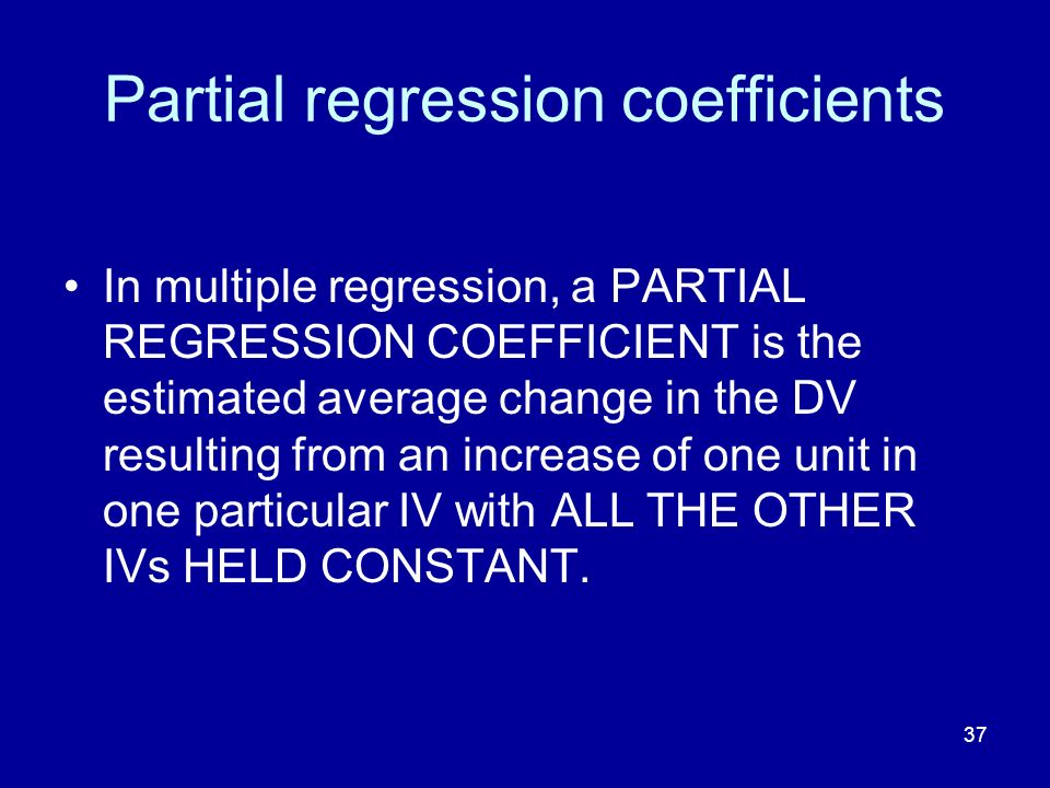 Partial regression coefficients