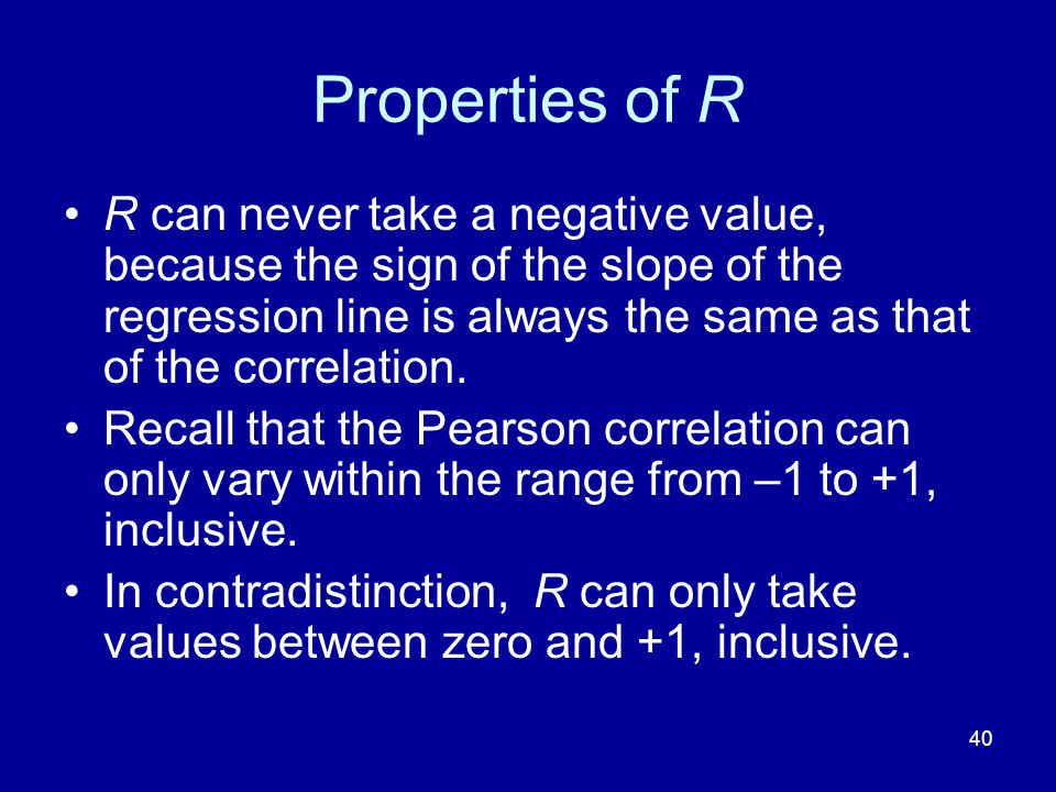 Properties of R
