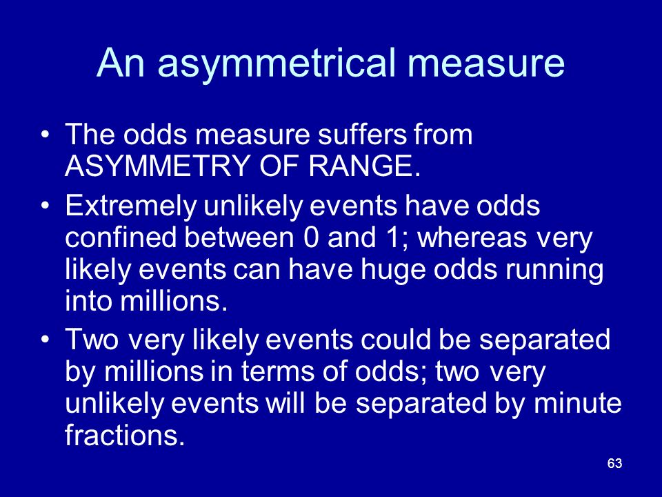 An asymmetrical measure