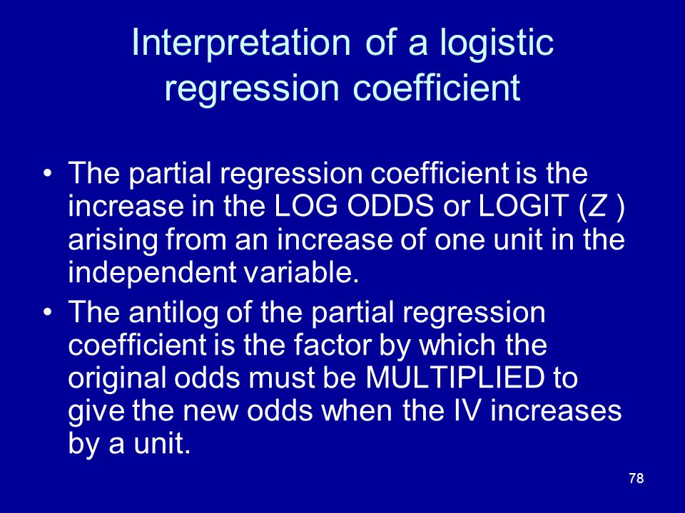 Interpretation of a logistic regression coefficient