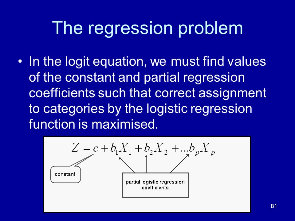 The regression problem