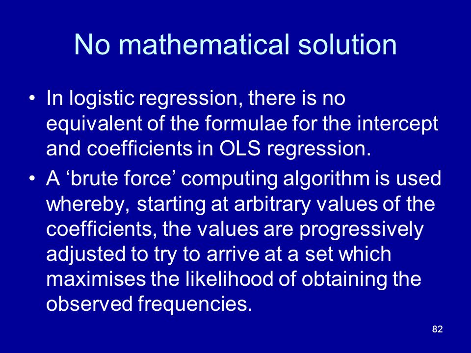 No mathematical solution