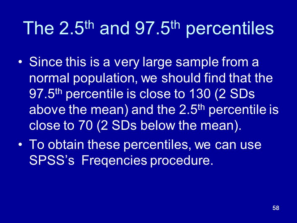 The 2.5th and 97.5th percentiles
