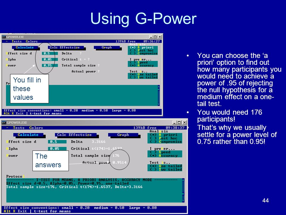 Using G-Power