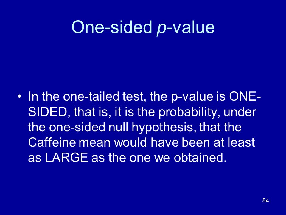One-sided p-value