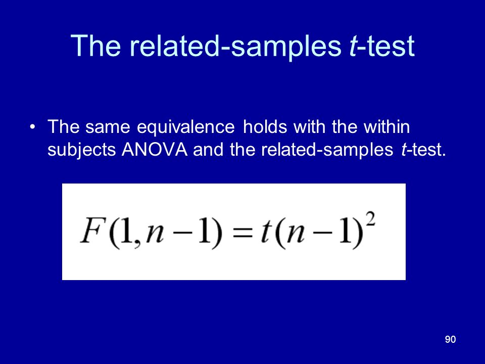 The related-samples t-test