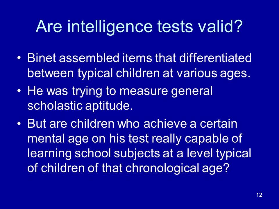 Are intelligence tests valid