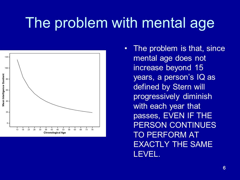 The problem with mental age