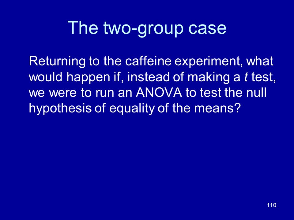 The two-group case