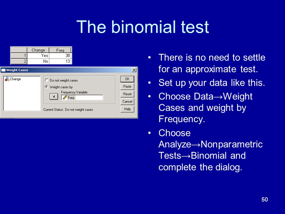 The binomial test There is no need to settle for an approximate test.