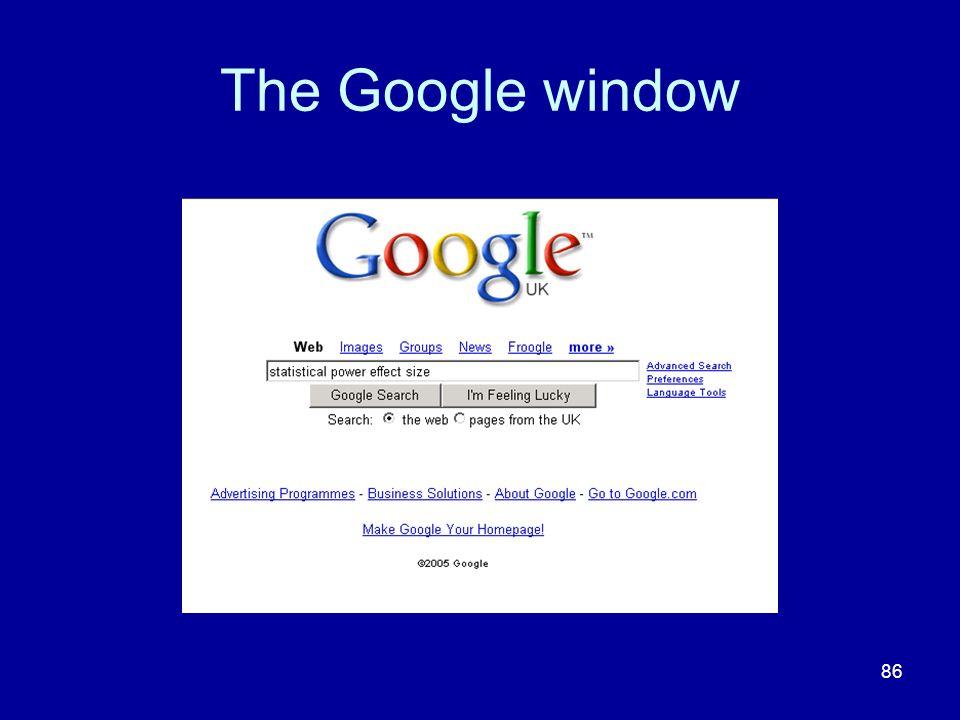 The Google window