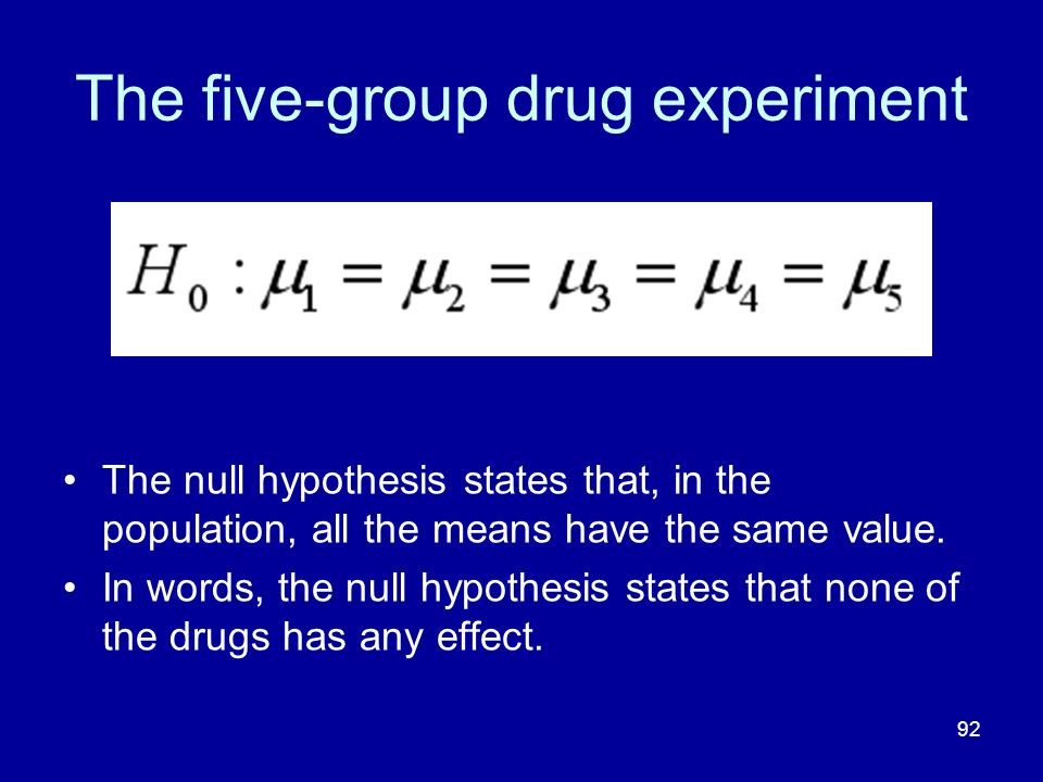 The five-group drug experiment