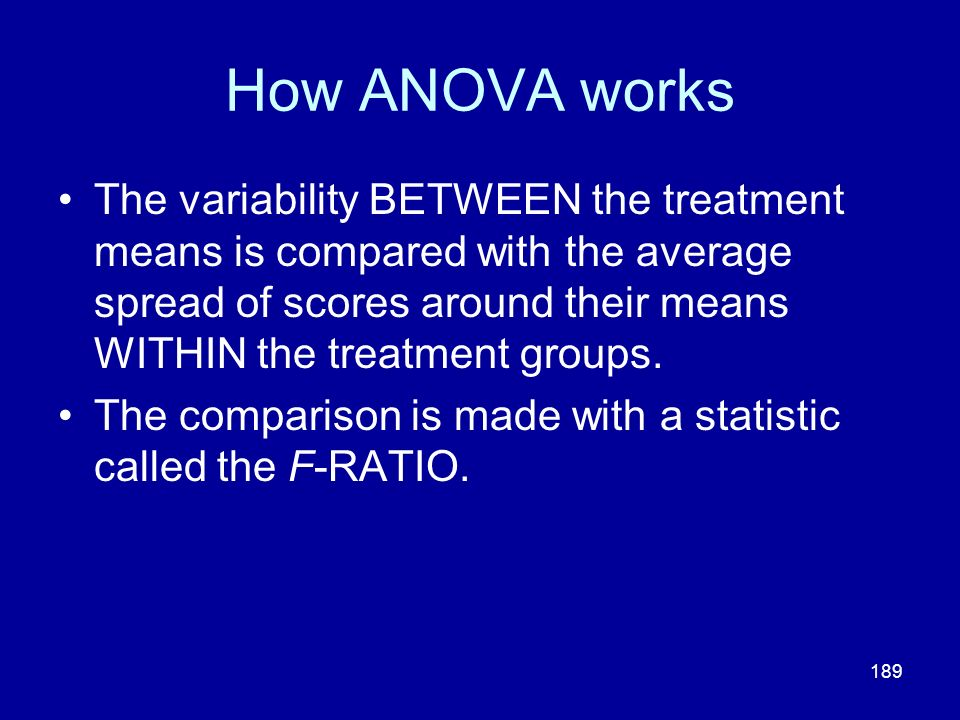 How ANOVA works